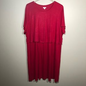 J. Jill Dress with Top Overlay Button Up Back 4X
